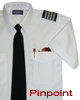 Tapered PINPOINT Pilot Shirt, Combo pkt, SS